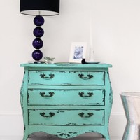 Antique Green Chest