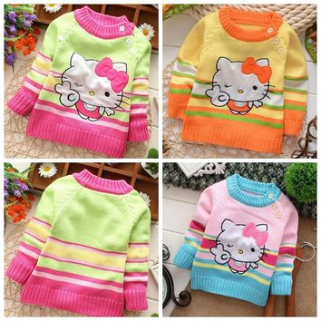 New Brand autumn winter baby boys girls 3D sweater cartoon animal cardigan sweater clothing outwear