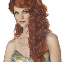 Mermaid (Auburn) Adult Wig