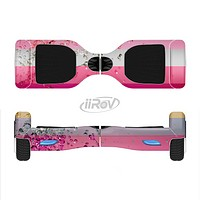 The Pink Water Stripes Full-Body Skin Set for the Smart Drifting SuperCharged iiRov HoverBoard
