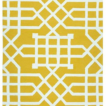 Azzura Hill Collection Hand-Tufted Area Rug, 9' x 12', Yellow,White By Rizzy Home