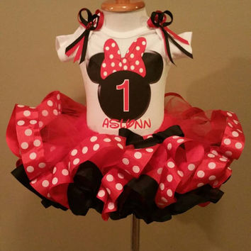 1st Birthday Minnie Outfit, Minnie Tutu Outfit, 1st, 2nd Tutu Outfit, Minnie 1st Birthday, Minnie Tutu, 1st Birthday Minnie Mouse, Tutu