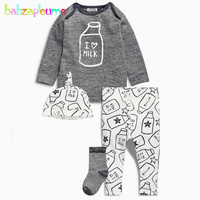 Spring Cotton Baby Boys Clothes Fashion Cute Children Clothing T-shirt Pant Hat 3pcs/set Toddler Boys Outfit Kids Tracksuit A091