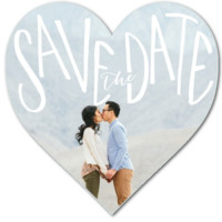 Heart Shaped Personalized Save the Date Wedding Card