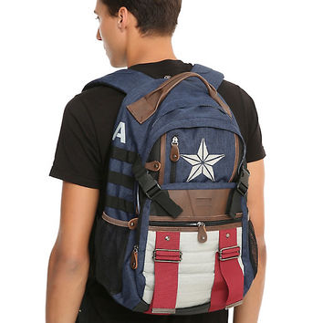 Marvel Captain America Built-Up Backpack