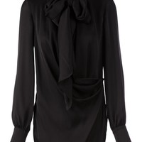 Emilio Pucci draped pussy bow blouse