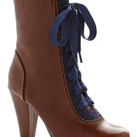 Chelsea Crew Vintage Inspired, French Flair-y Tale Boot in Cognac