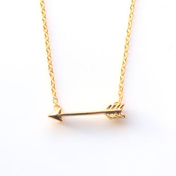 Min 1pc Gold and Silver Plated Long Chain Arrow Pendant Necklaces for Women 2015 Simple Necklaces & pendants for Girls