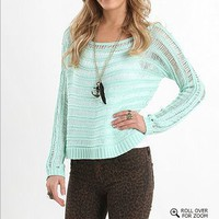 Kirra Boatneck Open Stitch Sweater - PacSun.com