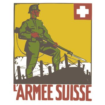 Swiss Army War Poster Womens Tee