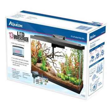 "AQUATICS - KITS: ADVANCED - AQUEON KIT LED AQUARIUM - 13 GALLON - 25.875"" x 10"" x 18.125"" - CENTRAL - ALL GLASS - UPC: 15905177825 - DEPT: AQUATIC PRODUCTS"
