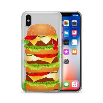 Monster Burger - Clear TPU Case Cover