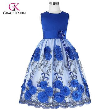 Puffy Sequins Flower Girls Dresses 2017 Ball Gown Sleeveless Summer Flower Girl Dresses for Weddings Party Dress Green Blue