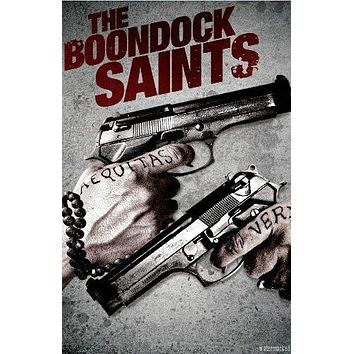 Boondock Saints Movie poster Metal Sign Wall Art 8in x 12in