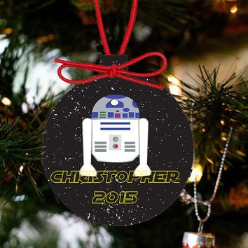 Personalized Christmas Star Wars Ornament - R2D2