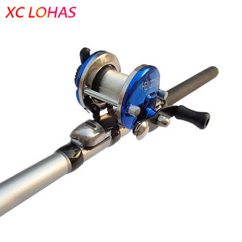 Low Price High Strength Right Hand Drum Casting Fishing Reel with 0.2mm Line 50m for Sea Beach Rock River Boat Ice Carp fishing