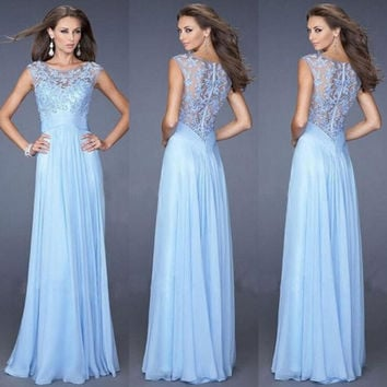 Sexy Long Evening Party Ball Prom Gown New Formal Bridesmaid Cocktail Dress (4 colors) = 1945896580