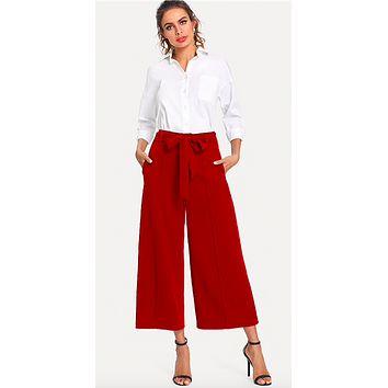 THE ROXIE RED ANKLE PANTS