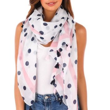 Fame Accessories Polka Dots Scarf