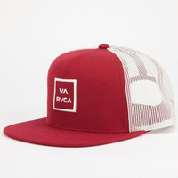 Rvca All The Way Mens Trucker Hat Red One Size For Men 24477730001
