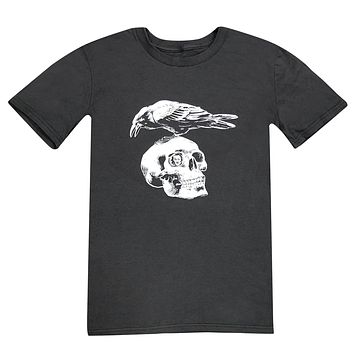 Edgar Allen Poe Skull and Raven (Smoke) / Shirt