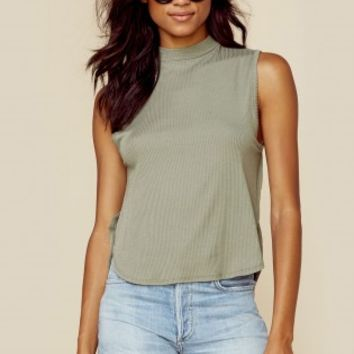 OPEN SIDE MOCK NECK TANK