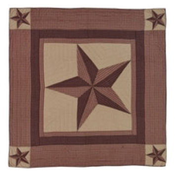 Landon - California King - Patchwork Quilt - Ashton & Willow - Stars, Checks, Plaids - Red, Brown, Khaki - Rustic Country