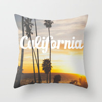 California Beach Throw Pillow by Thecrazythewzrd | Society6