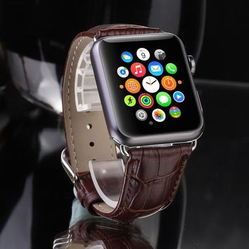 Leather Buckle Wrist Watch Band Strap Belt for iWatch Apple Watch 42mm 38mm