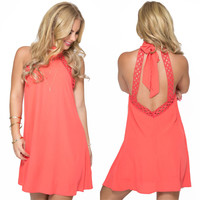 April Showers Dress in Coral