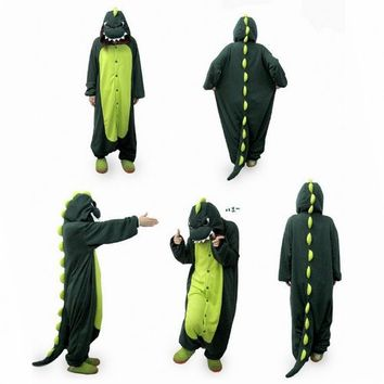 "COS365 Dinosaur Kigurumi Pajamas Adult Anime Cosplay Halloween Costume ,size S (58""-64"")"