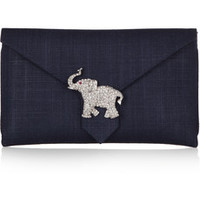 Wilbur & Gussie Edith crystal-embellished canvas clutch – 50% at THE OUTNET.COM