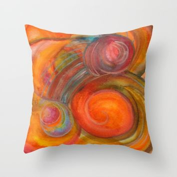 Sounds of Watercolors I Throw Pillow by ViviGonzalezArt