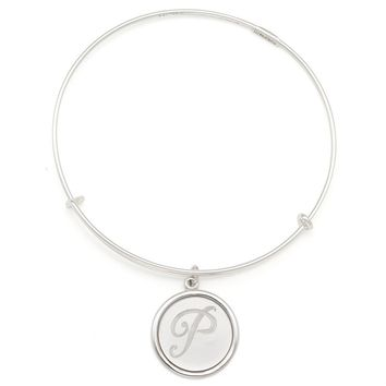 Alex and Ani Precious Initial P Charm Bangle - Argentium Silver
