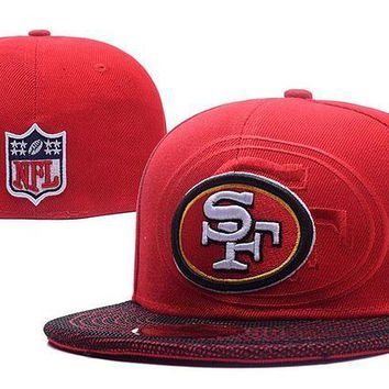 DCCKBE6 San Francisco 49ers New Era 59FIFTY NFL Football Cap Red-White
