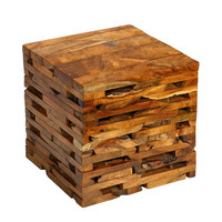 Fortress End Table in Teak Wood PRICE DROP
