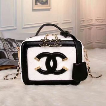 Chanel Women Shopping Leather Metal Chain Crossbody Satchel Shoulder Bag