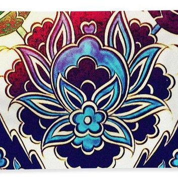 An Ottoman Iznik Style Floral Design Pottery Polychrome, By Adam Asar, No 36 H - Bath Towel