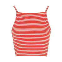 TALL EXCLUSIVE Square Neck Crop Top - Red
