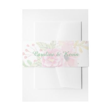Elegant Floral Invitation Belly Band