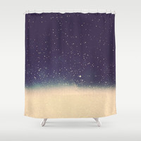 Star drops Shower Curtain by Printapix