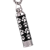 Cylinder Paws Pet Cremation Pendant Necklace