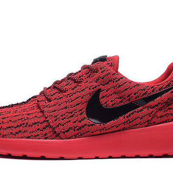 Custom Nike Roshe run Yeezy Red Red