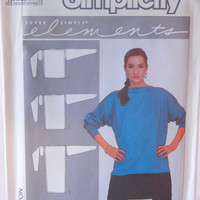 Loose Tunic Top or Dress Pattern, Super Simple Overlock Serger Pattern, One Size Customizable, Simplicity 8724