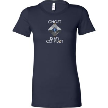 Ghost is my Co-Pilot (Centered Ghost) Women's T-Shirt
