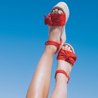 Boca Beach Red Platform Espadrille Sandals