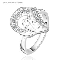 Popular Factory Price Nickel Free Korean Design Silver Ring For Lover