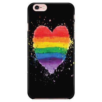 LGBT iPhone Case Rainbow Heart