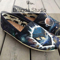 Doctor,Doctor Who Shoes,Galaxy shoes,Wen Studio Hand Painted Shoes-,Buy One Get One Phone Case Free,100%Hand Paint On Converse Shoes 105Usd