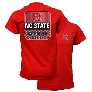 Southern Couture North Carolina NC State Wolfpack Preppy Logo T-Shirt
